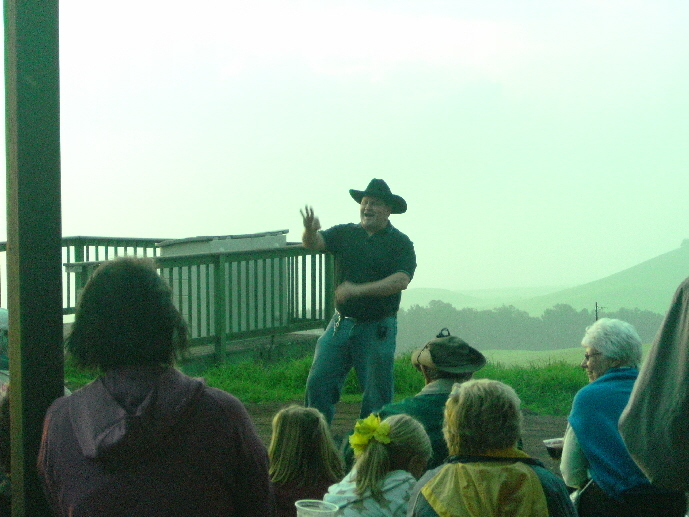 Cowboy John Telling Us About The Ranch