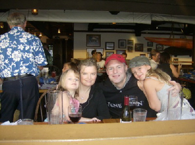 The family at Kimos on Maui